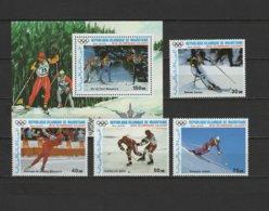 Mauritania 1987 Olympic Games Calgary Set Of 4 + S/s MNH - Winter 1988: Calgary