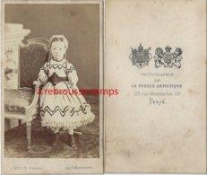 CDV Très Jolie Fillette-mode Second Empire-photo J. Bérot, Peintre-presse Artistique-Montmartre à Paris - Old (before 1900)