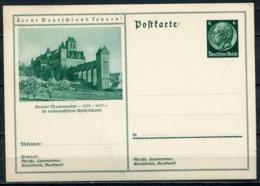 """German Empires 1933 GS Hindenburg,grün Mi.Nr.P221/053""""Lernt Deutschland Kennen!-Marienwerder-Dom U.Schloß""""1 GS - Ganzsachen"""