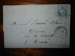 Lettre GC 2670 Nogent Sur Seine Aube - Storia Postale