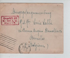 PR7453/ Lettre PDG-POW-KFS Camp De Rennbahn (Munster) C.Munster 1917 Geprüft > Belgique BXL - WW I
