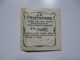 LA CRISTOFARO  - NAPOLI : Cordes Pour Mandolinistes - Music & Instruments