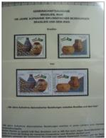 Emissioni Congiunte BRASILE 2002 - Ceramics 100th Ann. Of Diplomatic Relations With Brazil 2 Serie Cpl. 4v. Nuovi** - Gemeinschaftsausgaben