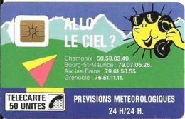 CARTE-PUBLIC-1988-F 25-SO2-50U- N°Série Pe 0568-ALLO LE CIEL-UTILISEE-TBE - Frankrijk