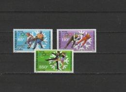 Niger 1988 Olympic Games Calgary Set Of 3 With Winners Overprint MNH - Winter 1988: Calgary