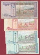 Mongolie 4 Billets Dans L 'état (5 Lots AUCUN DOUBLE) Lot N °5 - Mongolei