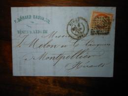 Lettre GC 2659 Nimes Gard Avec Correspondance Et Bordereau - 1849-1876: Klassik