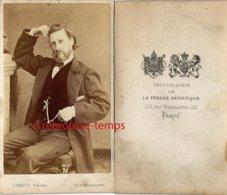 CDV  Homme à La Pose Insolite-photo J. Bérot, Peintre-presse Artistique-Montmartre à Paris - Photos