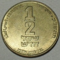 1992 - Israel - 5752 - 1/2 NEW SHEQEL - KM 159 - Israel