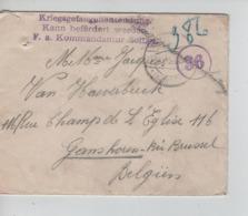 PR7455/ Lettre PDG-POW-KFS Camp De Soltau C.Soltau 1915 Censure Soltau > Ganshoren C.Jette - WW I