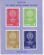 GHANA 1962 - MONDO UNITO CONTRO LA MALARIA - FOGLIETTO MNH ** - Ghana (1957-...)