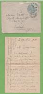 """Lettre Franchise Militaire Cachet """"le Médecin-Chef"""" Ambulance N°1 12ème Corps D'Armée 23ème Div. """" Pour VESOUL 25/08/14 - Marcophilie (Lettres)"""