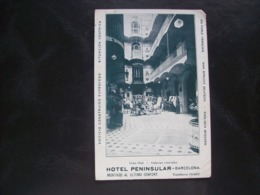 Espagne - Carte Postale Ancienne De Barcelone - Hotel Peninsula - Barcelona