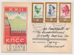 MAIL Post Cover USSR RUSSIA Set Stamp Lenin October Revolution Kremlin - 1923-1991 URSS
