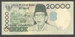Error Misprint Indonesia 20,000 20000 Rupiah 2001/1998 VF - Indonesien