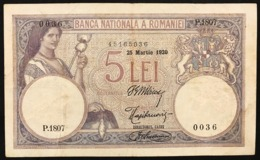 ROMANIA 1920 5 LEI Pick#19 LOTTO 2951 - Rumänien