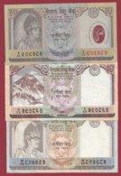 Népal  3 Billets Dans L 'état (5 Lots AUCUN DOUBLE) Lot N °5 - Nepal