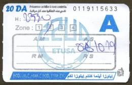 1 Ticket Transport Algeria Bus Algiers Alger - Biglietto Dell'autobus - 1 Billete Autobús - 1 Busticket Tickets - Monde