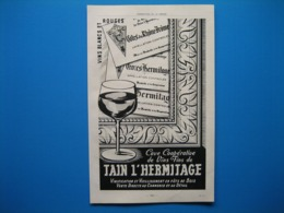 (1947) Coopératives (Drôme) : TAIN L'HERMITAGE - COSTEBELLE - CÔTEAUX DE TULETTE - St PANTALÉON DES VIGNES - Reclame