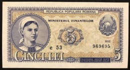 ROMANIA 1952 5 LEI Pick#83  Blue Series Spl LOTTO 2945 - Rumänien