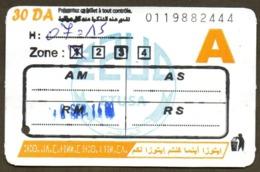 1 Ticket Transport Algeria Bus Algiers Alger - Biglietto Dell'autobus - 1 Billete Autobús - 1 Busticket Tickets (Normal) - Monde