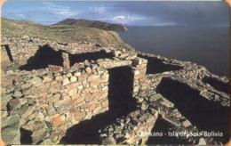 Bolivia - BO-ENTEL-032, Urmet, Chinkana Isla Del Sol,  Ruins Of Ancient Towns, 5 Bs., 8/98, Mint - Bolivie