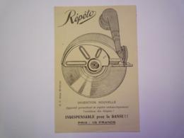 "2019 - 2785  Carte  PUB  ""REPETO""  Invention Nouvelle   XXX - Pubblicitari"