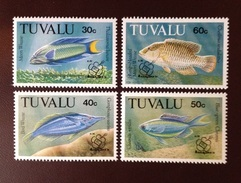 Tuvalu 1992 Fish Overprint Set MNH - Fische