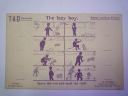2019 - 2786  G. DELMAS  Printer & Publisher Bordeaux  :  The Lazy Boy  -  Spare The Rod And Spoil The Child   XXX - Bordeaux