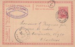 EP Merbes-le-Chateau 1920 Vers Charleroi - Cachet Privé Sucrerie De Solre-sur Sambre / Superbe - Cartes Postales [1909-34]