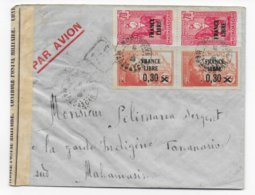MADAGASCAR - 1943 - FRANCE LIBRE - ENVELOPPE De MORONDAVA Avec CENSURE => TANANARIVE - Covers & Documents