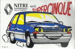 Autocollant -  Nitri S.R.L. Concessionaria Renault - Valle D'Aosta - Super Cinque - Autocollants