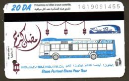 1 Ticket Transport Algeria Bus ERROR DATE Algiers Alger - Biglietto Dell'autobus - 1 Busticket - 2 Scans - Monde