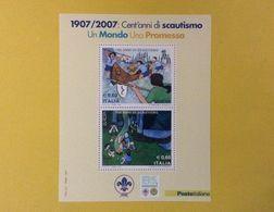 2007 ITALIA FOGLIETTO NUOVO SHEET NEW MNH** EUROPA SCOUT 100 ANNI DI SCAUTISMO - 6. 1946-.. Repubblica