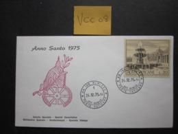 VCC 08  VATICAN CITY 1975 FOUNTAINS 20 LIRE VALUE, SOUVENIR? COVER - FDC