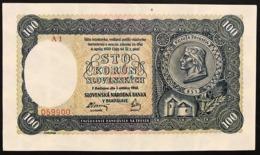 Slovacchia Slovakia  100 Korun 7-10-1940 Series - A1 Pick#11a Sup Lotto 2946 - Slowakije