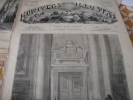 UNIVERS / ROME TOMBEAU PIE IX /CHARLES DAUBIGNY PEINTRE GRAVEUR /LABOURAGE A LA VAPEUR - Magazines - Before 1900