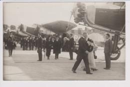 Vintage Rppc KLM K.L.M, Dutch Queen & Founder Plesman 29-09-1931 @ Schiphol Amsterdam Airport Version 1 - 1919-1938: Entre Guerres