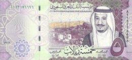 ARABIE SAOUDITE 5 RIYALS 2017 UNC P 38 B - Saoedi-Arabië