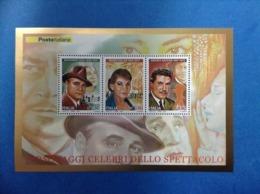 2007 ITALIA FOGLIETTO NUOVO SHEET NEW MNH** PERSONAGGI CELEBRI DELLO SPETTACOLO - 6. 1946-.. Repubblica
