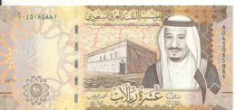 ARABIE SAOUDITE 10 RIYALS 2016 UNC P 39 - Saoedi-Arabië