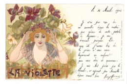 CPA ART NOUVEAU ABEILLE JACK FEMME LA VIOLETTE 235 - Illustratoren & Fotografen