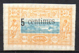 Col17  Colonie Cote Des Somalis  N° 28 Neuf X MH  Cote 15,00€ - Côte Française Des Somalis (1894-1967)