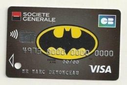 CARTE DE DEMONSTRATION VISA  THEME BATMAN - Cartes De Crédit (expiration Min. 10 Ans)