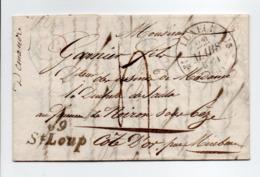 - Cursive Saint-Loup (Haute-Saône) Pour NOIRON-SUR-BÈZE (Côte-d'Or) Via LUXEUIL 22 MARS 1831 - Taxe Manuscrite 4 Décimes - Marcofilia (sobres)