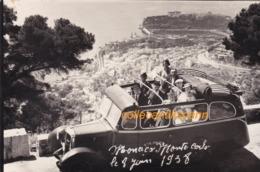 Carte Photo Monaco  Monte Carlo Le 8 Juin 1938 Autocar Unic Scann Recto Verso - Monte-Carlo
