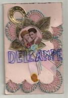 Couple. Fantaisie. Collage. Ruban, Feuille Dorée, Fer à Cheval. Double. 9/14 Cm - Couples
