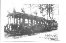 Brasschaat - Inhaling Van Den Eerste Elektrische Tram. (Foto 13 X 8,5 Cm) - Brasschaat