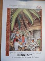 Ancienne Publicité 1938 Cognac Hennessy - Reclame