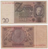 Germany P 181 A - 20 Reichsmark 22.1.1929 - VF - 1918-1933: Weimarer Republik